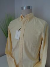 BNWT Gant Soft Yellow Perfect Oxford Fitted Shirt size M