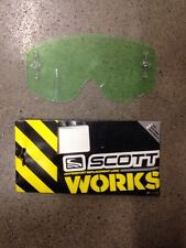 SCOTT WORKS CLEAR ANTI-FOG SINGLE REPLACEMENT GOGGLE LENS WITH TEAROFF PINS