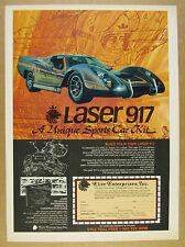 1980 Laser 917 Sports Car Kit vw volkswagen chassis vintage print Ad