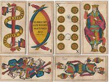 ❤️Alte Spielkarten 1865 große Trappola Knepper Wien 36 Bl. Antique Playing Cards