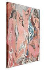 More details for the young ladies of avignon by pablo picasso framed pictures canvas wall prints
