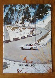 Original Motoring sales brochure, Triumph Range,  1971.