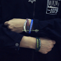 Wristband English inspirational Men and Women Silicone Bracelet Sports Bracelet