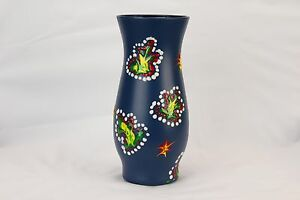 BLUE GLASS HANDMADE VASE FOR HOME OUTDOOR DECORATION FAMILY GIFT FOR MOTHER