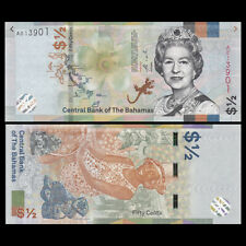 Bahamas 1/2 0.5 Dollar 50 Cents, 2019, P-NEW, UNC