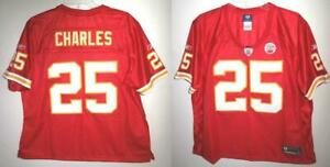 RBK KANSAS CITY CHIEFS JAMAAL CHARLES WOMEN'S PREMIER RED HOME JERSEY M
