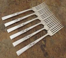 Oneida Morning Star Set of 6 Dinner Forks Community Silverplate Flatware Lot D