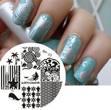 Nail Art Stamping Plate Ocean Theme Image Stamp Template #23 Decor BORN PRETTY