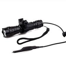 Waterproof T6 LED Torch Tactical Flashlight For AR Picatinny Quad Rail rifle gun