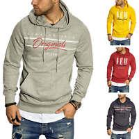 Jack & Jones Herren Hoodie Kapuzenpullover Print Sweatshirt Sweater Pullover
