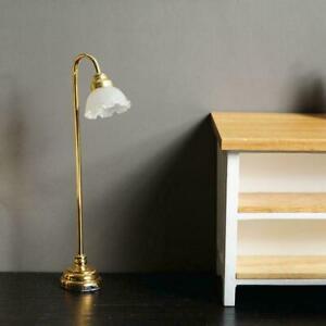 1:12 Doll House Doll House Simulation Model Flower Lamp Floor LED Shade X9Q3