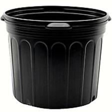 7 Gallon Black Nursery Pots, (Qty. 6), Plastic Nursery Greenhouse Container