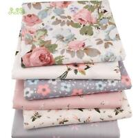 6pcs/lot New Floral Series Twill Cotton Fabric,patchwork Cloth,diy Sewing