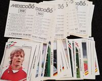 Panini Mexico 86 Stickers - Complete Your Album - Special Offer 257-427