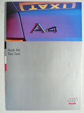 Prospekt Audi A4 Taxi 1.6 - 2.8 quattro, 1.9 TDI, 3.1995, 6 Seiten, folder