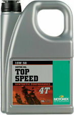 Motorex Top Speed 4T Full Synthetic 4-Stroke Engine/Motor Oil 15W-50 4 Liter