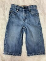 Baby Gap  Infant Boy Denim Blue Jeans size 12-18 months loose fit adj waist