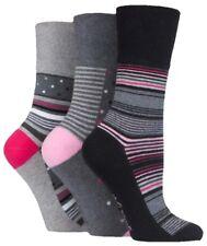 Nomadic Journey 6 Ladies Gentle Grip® Cotton Rich Non Elastic Socks UK 4-8