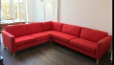 Ikea Karlstad Corner Sofa Covers In Red Covers ONLY ! PLEASE READ!