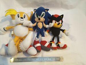 """Sonic the Hedgehog, Tails, Shadow Plush Sega Soft Toys 12"""""""