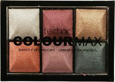 Technic ColourMax Baked Eyeshadow Palette Treasure Chest Bronze, Copper, Gold