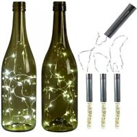 20 LED Xmas Bottle Lights Cork Shape Lights Wine Bottle Starry String Lights 2M