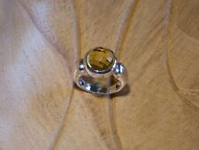 Vintage 925 Solid Sterling Silver Ring With Nice Stone 9 grams (Q)