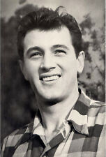 Rock Hudson≈Universal City California 1950≈Photo Roddy McDowall POSTCARD Actor
