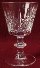 "EDINBURGH crystal OLIVE & CROSS edi9 pattern WINE GLASS or GOBLET 3-7/8"""