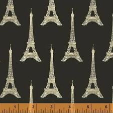 70cm  Paris Eiffel Tower Red Cotton Sewing Quilting Fabric