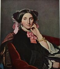 Madame Gonse by Jean Auguste Dominique Ingres. Color Plate. The Studio, 1915.