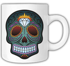 DIAMOND CANDY SKULL MUG Mr Oilcan Exclusive Design KUSTOM MEXICAN HOTROD