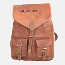 "15"" Genuine Leather Backpack Basic Women Fashion Style Vintage New School Bag"