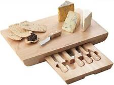 Extra Large Rectangular Cheese Board with 5 Specialist Cheese Knives - Occasion