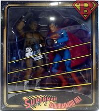 "SUPERMAN vs. MUHAMMAD ALI DC Comics 7"" inch Action Figure 2-pack Neca 2017"