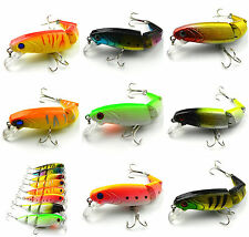 8pcs 10cm 6# Hook 3 Jointed Minnow Bait Ice Sea Fishing Lure Bass Crankbait