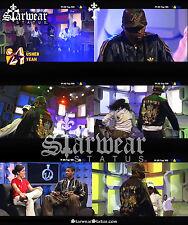 Usher Raymond's Custom YEAH Vtg Adidas A-15 Leather Celebrity Wardrobe Jacket L