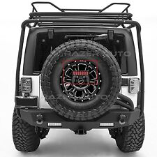 3rd Brake LED Light Smoke Lens+Spare Tire Bracket for 07-17 Jeep JK Wrangler