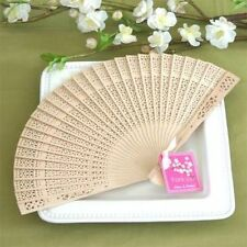 100 Sandalwood Hand Fan Wedding Bridal Favors Asian Summer Beach Theme