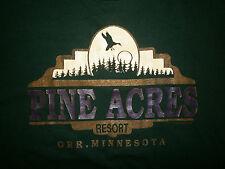 vtg PINE ACRES RESORT T SHIRT Orr Minnesota 80s 90s Pelican Lake Fishing Scenic