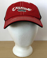 CALLAWAY Golf 1982 Red Black Mesh Baseball Hat Cap Adjustable