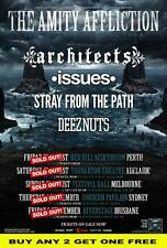THE AMITY AFFLICTION 2014 Laminated Australian Tour Poster