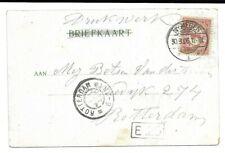 Langebalkstempel Nijmegen 1 met Arcering Zeldzaam 1906 - Rotterdam GR
