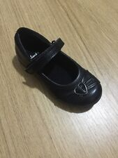 New Clarks Dolly Coeur Filles Mélange Cuir Chaussures Taille UK 7 D