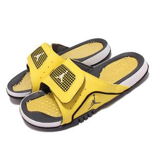 Nike Jordan Hydro IV Retro 4 Lightning Yellow Black White Men Sandals DN4238-701