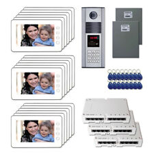 "Apartment Unit Home Security Door Video Intercom Kit (18) 7"" Color Monitor"