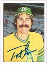 Original Autograph of Phil Garner of the Oakland A's on a 1975 SSPC Card