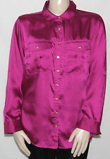 NEW Charter Club Plus Size 22W PINK 3/4 Sleeve Roll-Tab Point Collar Shirt