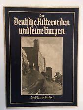Die Blauen Bucher, Dre Deutsche Ritterorden Und Seine Burgen. 1940 Print