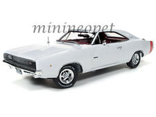 AUTOWORLD AMM1059 HOLIDAY MUSCLE EDITION 1968 68 DODGE CHARGER R/T 1/18 WHITE